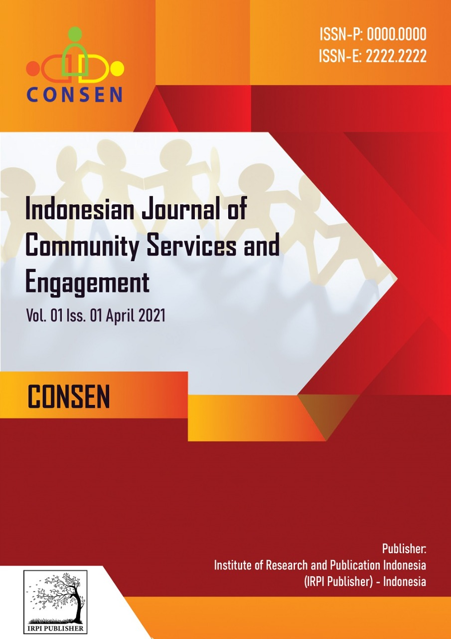 View Vol. 1 No. 1 (2021): Consen: Indonesian Journal of Community Services and Engagement